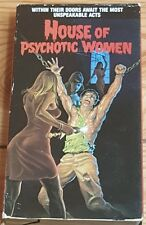 House of Psychotic Women (1974)VHS Video Tape-Horror WORLDS WORST VIDEOS
