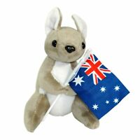 JUMBACK KANGAROO WITH FLAG SOFT ANIMAL PLUSH TOY 16cm **NEW**