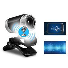 USB Webcam 720p HD mit Mikrofon WebKamera für Videochat Aufnahme PC Windows Mac