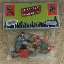 """DC JUSTICE LEAGUE Of AMERICA 2 1/2"""" FIGURE ASST. 7 MIP Italy ONLY 1979 RARE"""
