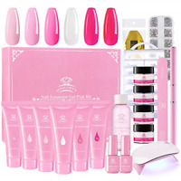 Makartt Pink Poly Nail Gel Kit, Nail Extension Gel Builder Gel Kit Nail Gel with