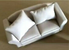 Dolls House Sofa Two Seater Biege / Cream Lounge Chair 1:12 Scale DF1572