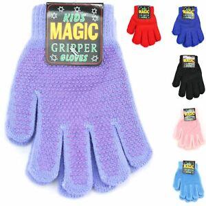 Enfants sur le thème de préhension Extensible Gants Magique Gants en Tricot Chaud Hiver Gripper