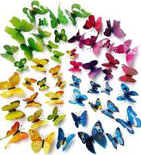 10pcs LED Luces 3d Mariposa Pared Pegatinas Hogar Familia Arte Decoración Niños