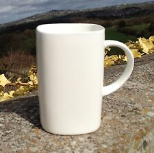 6 Simply White Fine Bone China Square Mugs