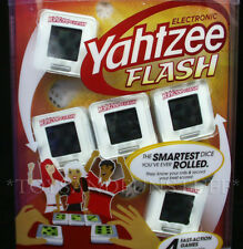 YAHTZEE FLASH Electronic Family Game - 4 Fast-Action Games in 1 - Portable Case