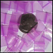 1212-S Skinny Apple Purple Color 100 Mini Ziplock Bags Baggies TINY Plastic
