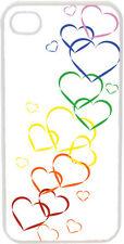 Valentine's Graduating Rainbow Hearts iPhone 4 4s Case Cover
