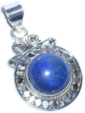 ANTIQUE luk Sterling SILVER Pendant Lapis Lazuli Gemstone Pendants Jewellery