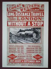 POSTCARD GREAT WESTERN TO & FROM LONDON NON STOP