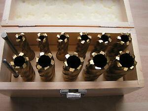 11- piece HSS Annular Cutter Set - 14-28mm Titanium Coated