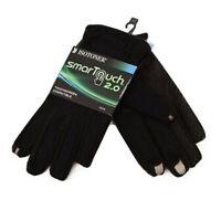 Isotoner SmarTouch 2.0 Size Large Touchscreen Compatible Gloves Color Black Men