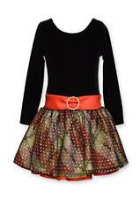 NWT girls BONNIE JEAN  Dress black, gold, red,  Sz 4  $60 tag
