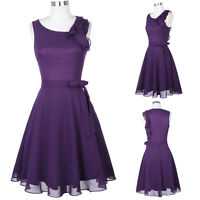 Women Purple Formal Wedding Party Prom Dress Bridesmaid Evening Cocktail Dresses