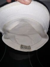 Stetson Flat Hat 22' Newsboy Cabbie Ivy Gatsby Driving Golf Cap 100% Linen White