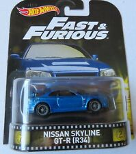 Hot Wheels - Fast & Furious - Nissan Skyline - GT-R ( R34 )