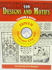 """Designs and Motifs"" CD-Rom and Book - Dover Clip Art -539 Royalty Free Designs"