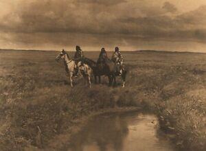 1972 EDWARD CURTIS 3 Chiefs Four Horns Small Leggings American Indian Art Photo