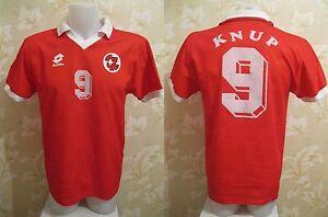 VINTAGE Switzerland #9 Knup 1994/1995/1996 Sz M Lotto shirt jersey maglia trikot