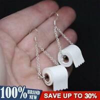 Toilettenpapier Hamsterkäufe Ohrringe Paar Klo poop Klopapier