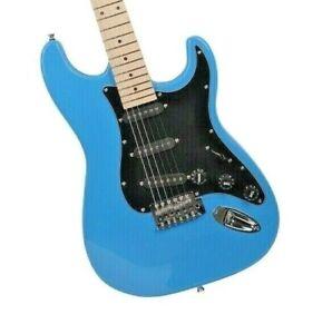 Glarry GST Electric Guitar Sky Blue & Gig Bag w/ Maple neck SSS pickups  5.5lbs