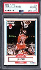 PSA 10 MICHAEL JORDAN 1990-91 90-91 Fleer #26 Chicago Bulls HOF RARE GEM MINT