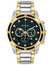 Bulova Men's 98D132 Quartz Diamond Accents Chronograph Two-Tone 44mm Watch