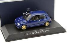 RENAULT CLIO WILLIAMS 1996 Blue metallic - 1/43 - NOREV