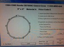 Honda CB700SC Nighthawk S  Clutch Cover Gasket  1984 1985 1986 11395-MW3-600