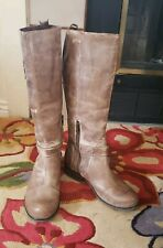 NEW Corral Waterproof Leather Women's Riding Boots Size 8.5 Calf Rubber Bottom