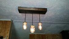 Mason Jar Light Fixture Chandelier 3 light