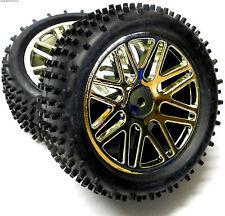 06010 1/10 échelle hors pistes RC R/C Buggy Devant roues et pneus x2 Argent 15