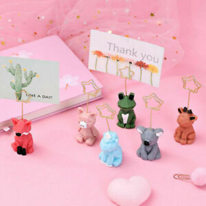 Creative Animal Memo Photo Stand Star Clip DIY Table Number Name Card Clip Holde