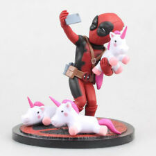 SuperHero Marvel Avengers Deadpool Unicorn Selfie Model PVC Action Figure Toy UK