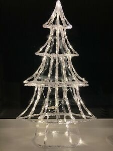 1m Warm White LED Acrylic Christmas Tree, By Lumineo, Brand New, RRP £120