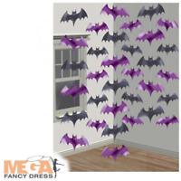 Vampire Foil Bats String Decorating Halloween Party Trick Treat Decoration Kit
