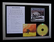 SUPERTRAMP Give A Little Bit QUALITY MUSIC CD FRAMED DISPLAY+EXPRESS GLOBAL SHIP