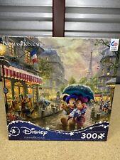 Disney 350 Piece Jigsaw Puzzle Thomas Kinkade Minnie In Rain Mickey Mouse New