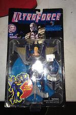 1995 Galoob Ultraforce #15 Hardcase Ultra Hero Action Figure with Sky Glider