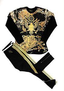 Men's 2-Piece [Millionaire Aztec Eagle] Long Sleeve T-Shirt & Track Pants Set
