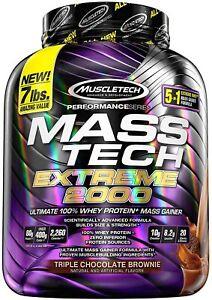 MuscleTech Mass-Tech Extreme 2000, Triple Chocolate Brownie - 3180g