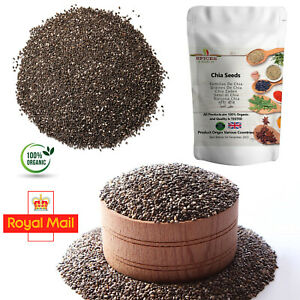 Organic Chia Seeds 100% Natural Premium Quality Weight Loss Raw Whole Diet P&P
