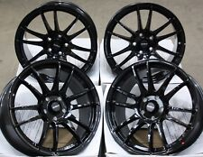 "18"" BLACK SUZUKA ALLOY WHEELS FITS SUBARU IMPREZA WRX AWD 5X100"