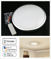 "11"" LED Ceiling Light Dimmable Smart WIFI APP Voice Remote Lamp Home Fixture"