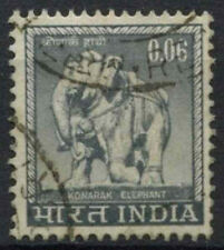 India 1965-75 SG#507, 6p Konarak Elephant Definitive Used #D23420
