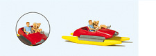 NEW  HO Preiser 10684 Red Pedal Boat with Young Couple Figures 1Q
