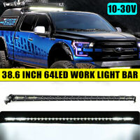 38'' inch 192W 64 LED Work Light Bar Spot Flood Combo Driving Lamp ATV SUV