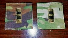US Army pair of Chief Warrant Officer-2  / CW2 hook & pile rank patches OCP camo