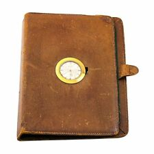 Vintage GUCCI Leather Telephone Address Pocket Book Watch NOT WORKING, AS IS