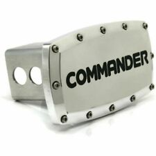 "Jeep Commander 2"" Tow Hitch Cover Plug Engraved Billet Aluminum"